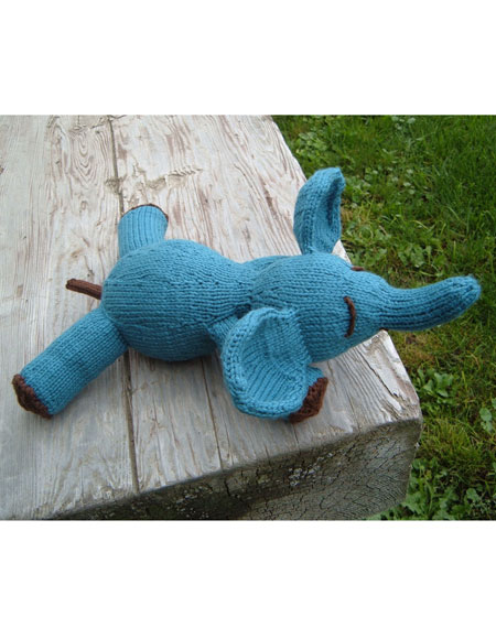 Free Knitting Pattern For Elephant Toy : Elwood E. Elephant Toy - Knitting Patterns and Crochet Patterns from KnitPick...