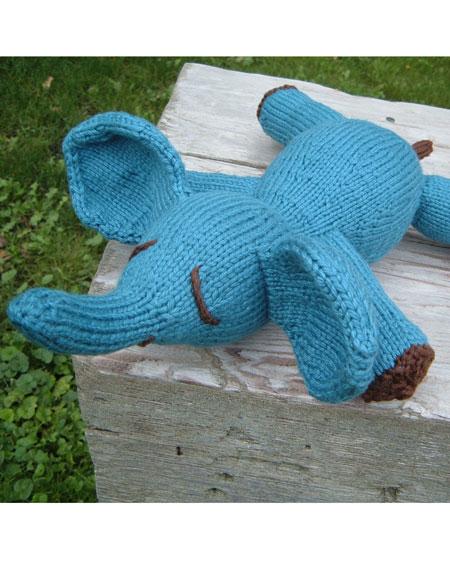 Large Elephant Knitting Pattern : Elwood E. Elephant Toy - Knitting Patterns and Crochet Patterns from KnitPick...
