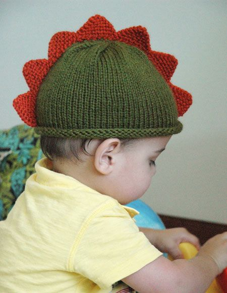 Dinosaur Knit Hat Pattern : Dinosaur Hat - Knitting Patterns and Crochet Patterns from KnitPicks.com
