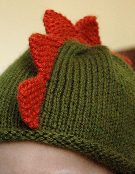 Knit Dinosaur Pattern : Dinosaur Hat - Knitting Patterns and Crochet Patterns from KnitPicks.com