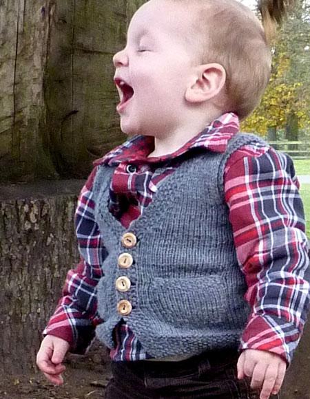 Pepo Pie Child Waistcoat Vest - Knitting Patterns and Crochet Patterns from K...