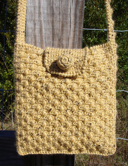Crochet Bucket Bag Pattern : Crochet Shoulder Bag - Knitting Patterns and Crochet Patterns ...