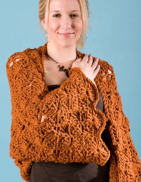 SunRays Crochet Shrug & Shawl - Knitting Patterns and Crochet Patterns fr...
