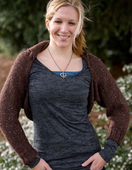 Simple City Shrug - Knitting Patterns and Crochet Patterns from KnitPicks.com