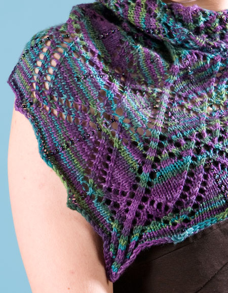Easy Scarf Patterns To Knit : Opening Night Shawlette - Knitting Patterns and Crochet Patterns from KnitPic...