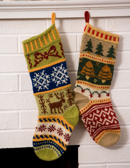 Christmas Stocking Knitting Pattern Download : Mix-It-Up Christmas Stranded Stocking Pattern - Knitting Patterns and Crochet...