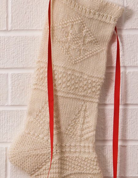 Mix-It-Up Textured Christmas Stocking Pattern - Knitting Pattern