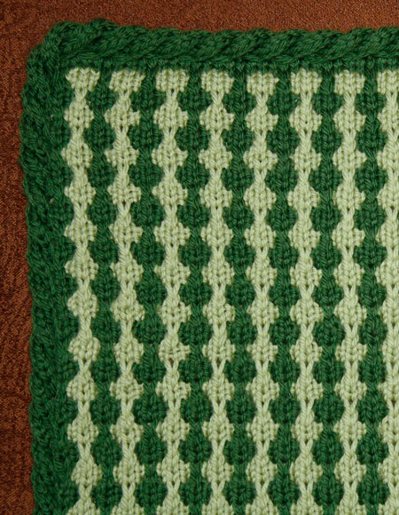Tuck Stitch Lap Throw / Baby Blanket - Knitting Patterns and Crochet Patterns...