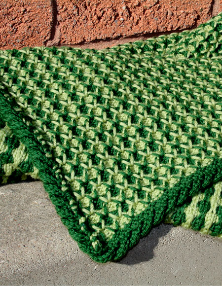 Free Crochet Pattern Lap Blanket : Tuck Stitch Lap Throw / Baby Blanket - Knitting Patterns ...