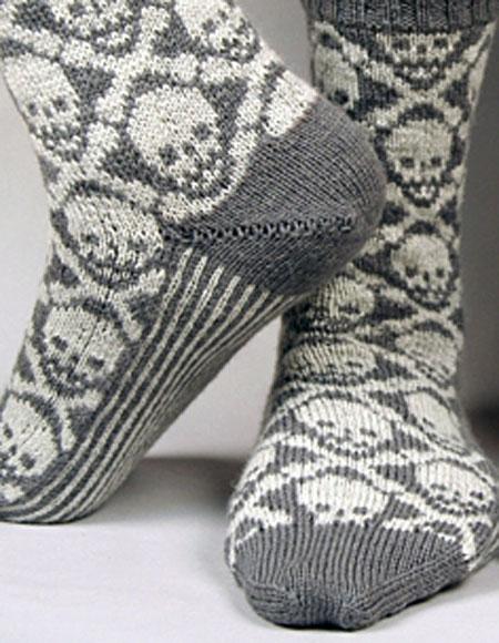 Sexy Knitting Patterns : Hot Crossbones Socks - Knitting Patterns and Crochet Patterns from KnitPicks.com
