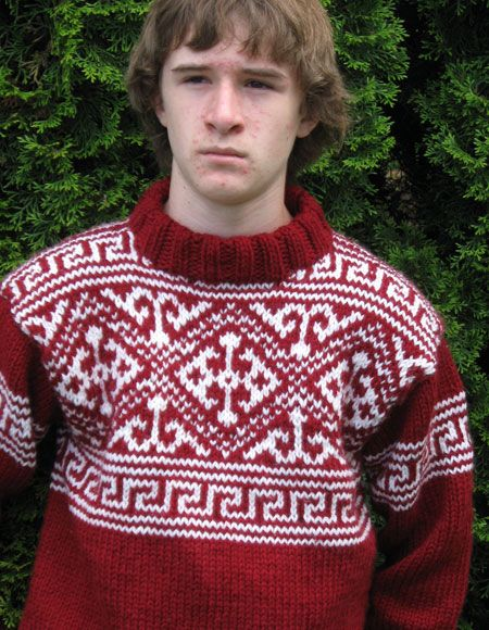 Knitting Patterns For Nordic Sweater : Mens Nordic Sweater - Knitting Patterns and Crochet ...