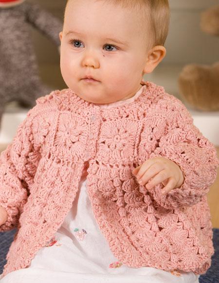 Girl Sweater Knitting Pattern : Girls Crochet Sweater - Knitting Patterns and Crochet Patterns from KnitPicks...