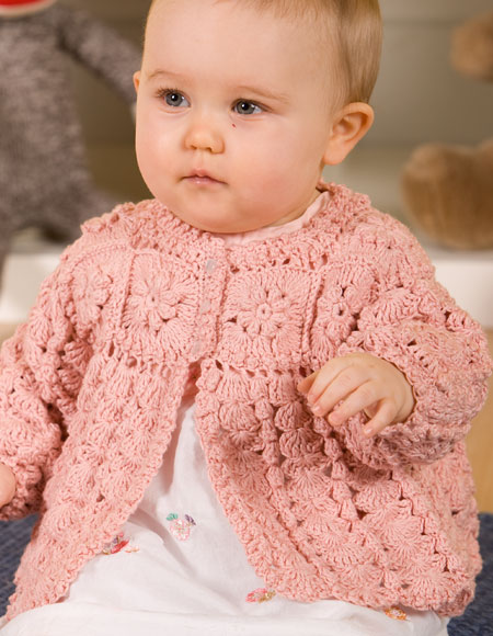 Girls Crochet Sweater - Knitting Patterns and Crochet Patterns from KnitPicks...