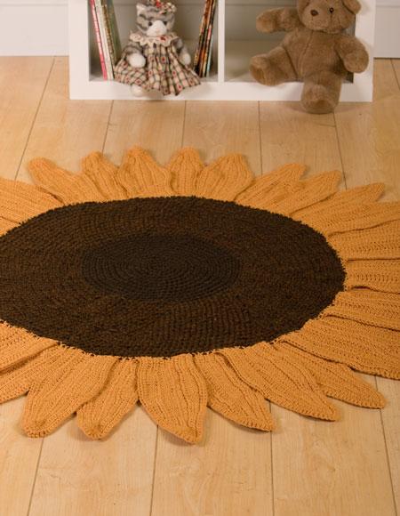 Sunflower Crochet Rug Knitting Patterns And Crochet