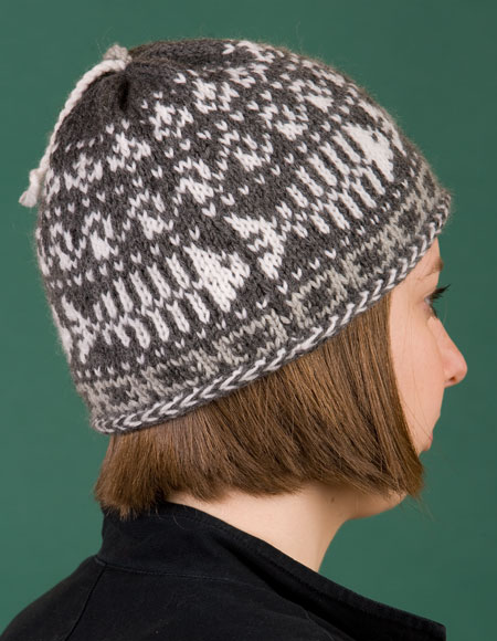 Knitted Skull Hat Pattern : Fishbones Skull Cap - Knitting Patterns and Crochet Patterns from KnitPicks.com