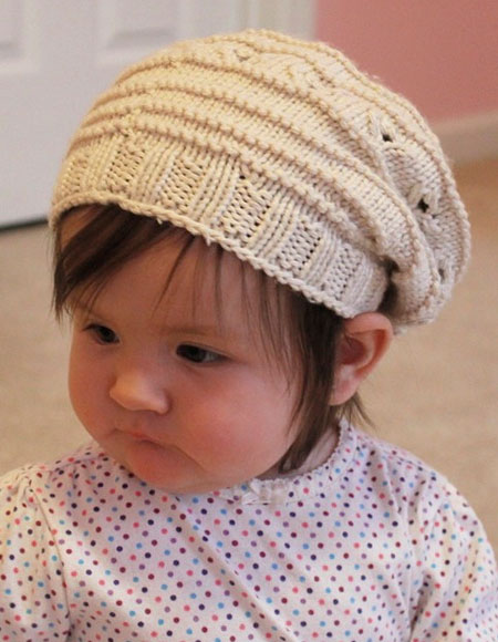 Knitting Patterns For Dog Hats : Puppy Prints Baby Hat - Knitting Patterns and Crochet ...