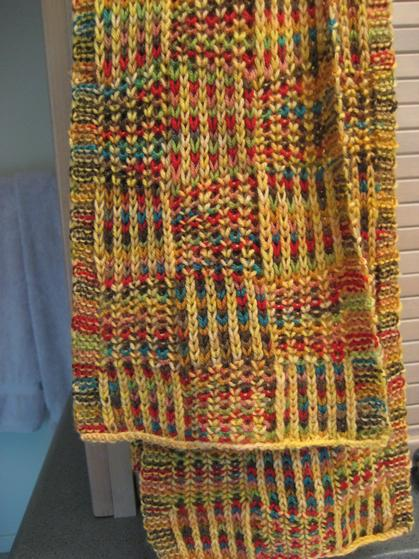Checkered Knitting Pattern : Checkerboard Scarf - Knitting Patterns and Crochet ...