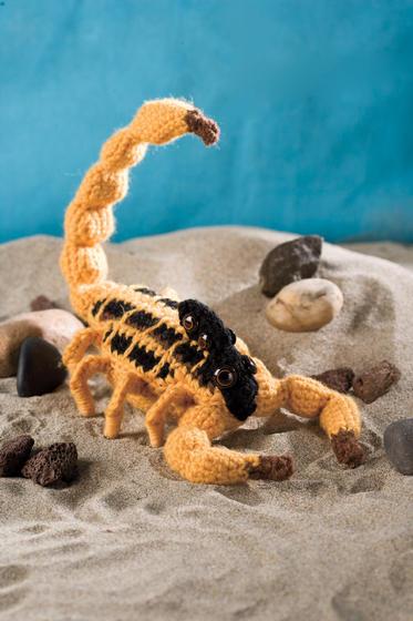 shady sadie the striped bark scorpion knitting patterns