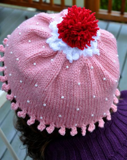 Free Doll Knitting Patterns Download : Adult Beaded Cupcake Hat - Knitting Patterns and Crochet Patterns from KnitPi...