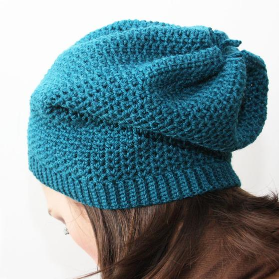 Sock Slouch Crochet Hat - Knitting Patterns and Crochet Patterns from KnitPic...