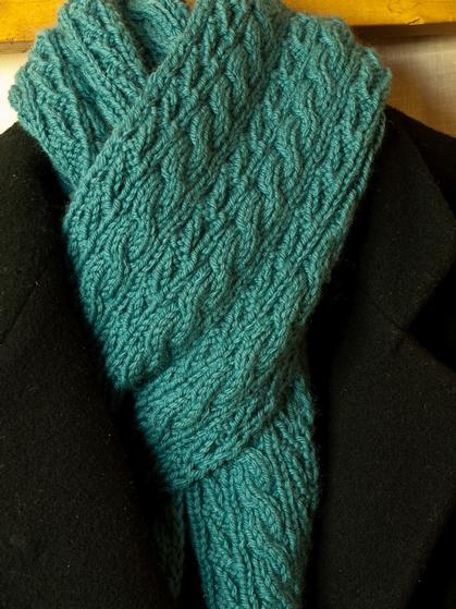 Reversible Knitting Stitches Cables : Cable Lovers Reversible Scarf - Knitting Patterns and Crochet Patterns f...