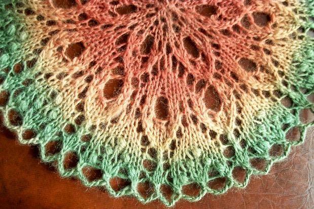 Tulipe Estonian Insprired Lace Doily - Knitting Patterns and Crochet Patterns...