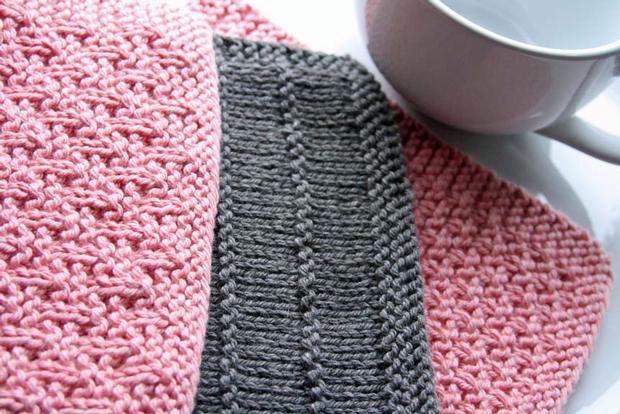 Free Knitting Patterns Kitchen Dishcloths : Kitchen Knitted Dishcloths #1 - Knitting Patterns and ...