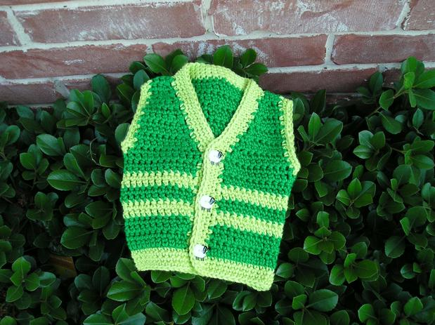 Free Crochet Pattern Newborn Vest : Santiago Crochet Baby Sweater - Knitting Patterns and ...