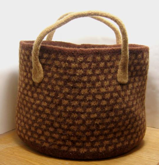 Knit Market Bag Pattern : Market Basket Felted Bag - Knitting Patterns and Crochet Patterns from KnitPi...