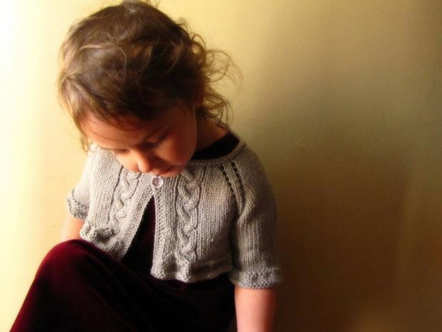 Child Bolero Knitting Pattern : Langston Child Shrug - Knitting Patterns and Crochet Patterns from KnitPicks.com