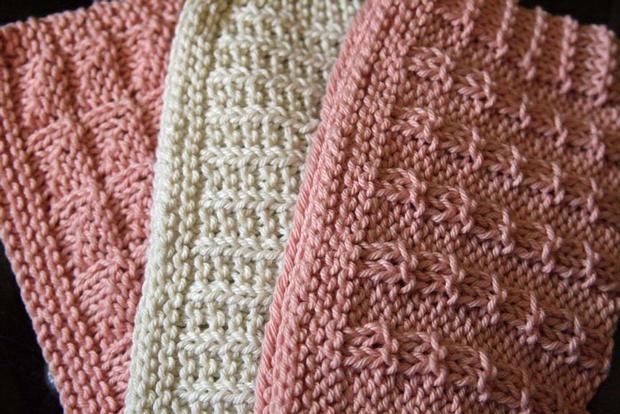 Knit Dishcloth Patterns Two Colors : Kitchen Knitted Dishcloths #2 - Knitting Patterns and Crochet Patterns from K...