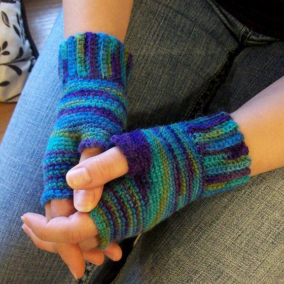 Imagination Fingerless Crochet Gloves - Knitting Patterns and Crochet Pattern...