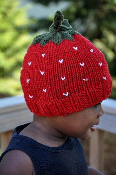 Knitting Pattern For Strawberry Hat : Strawberry Hat - Knitting Patterns and Crochet Patterns from KnitPicks.com