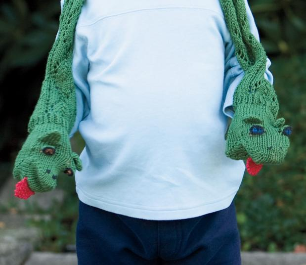 Snake Puppet Scarf - Knitting Patterns and Crochet Patterns from KnitPicks.com