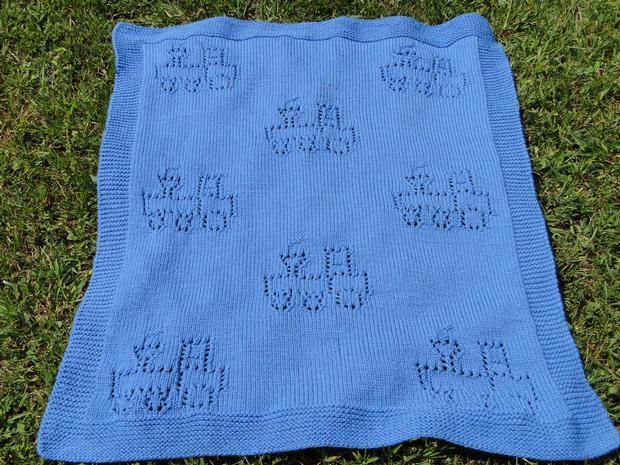 Knitting Pattern Train Blanket : Choo Choo Train Blanket - Knitting Patterns and Crochet ...