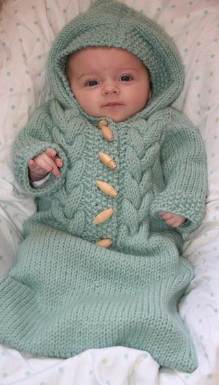 Free Baby Bunting Knitting Patterns : Top Down Baby Bunting - Knitting Patterns and Crochet Patterns from KnitPicks...