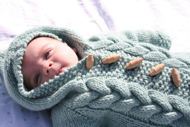 Baby Bunting Knitting Pattern : Top Down Baby Bunting - Knitting Patterns and Crochet Patterns from KnitPicks...