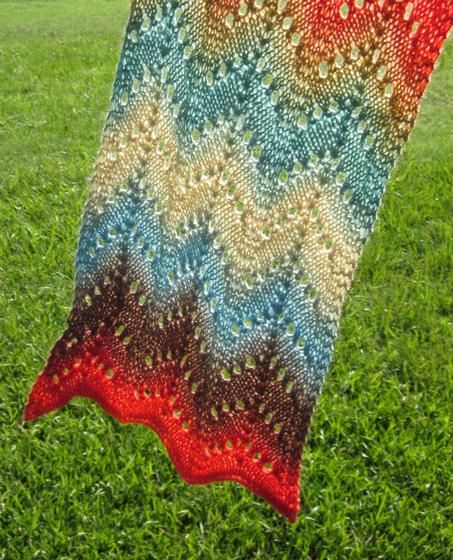 Knitting Stitches Waves : Desert Waves Scarf - Knitting Patterns and Crochet Patterns from KnitPicks.com