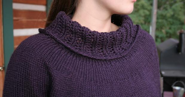 Free Knitting Patterns For Cowl Collars : Cowl Collar Sweater - Knitting Patterns and Crochet Patterns from KnitPicks.com