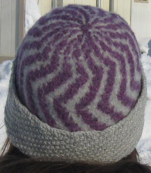 The Two Color Felted Hat - Knitting Patterns and Crochet Patterns from KnitPi...