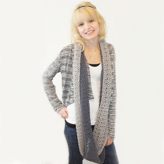 Free Knitting Pattern Twisted Cowl : Double Twist Crochet Cowl - Knitting Patterns and Crochet Patterns from KnitP...