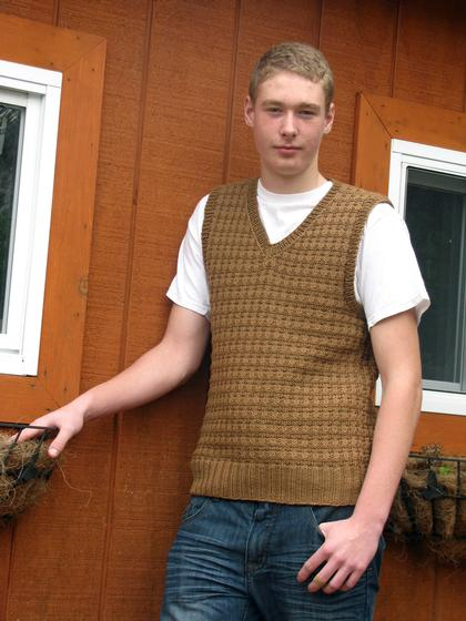 Free Crochet Pattern Mens Vest : Helmsley Mens Vest - Knitting Patterns and Crochet ...