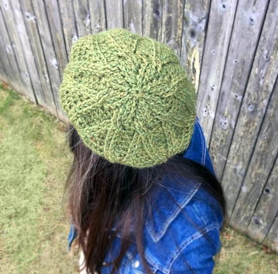 Free Knitting Pattern Cabled Beret : Bixby Cabled Crochet Beret - Knitting Patterns and Crochet ...