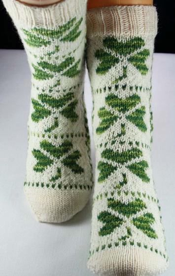 Shamrock Socks - Knitting Patterns and Crochet Patterns from KnitPicks.com