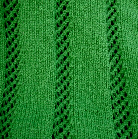 Lattice Stripe Baby Blanket - Knitting Patterns and Crochet Patterns from Kni...