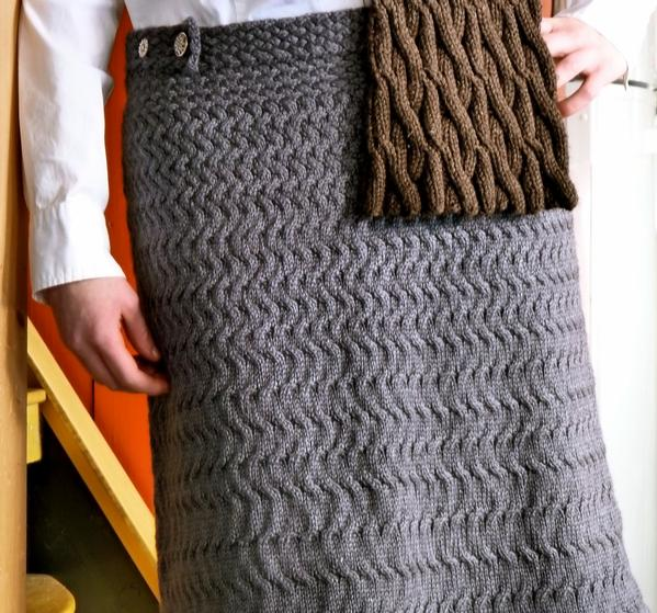 Free Knit Skirt Pattern : Slalom Skirt - Knitting Patterns and Crochet Patterns from KnitPicks.com
