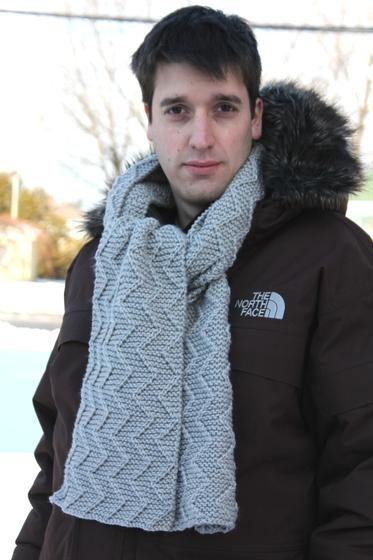 Garter Stitch Zig Zag Scarf Knitting Pattern : Garter zigzag scarf knitting patterns and crochet