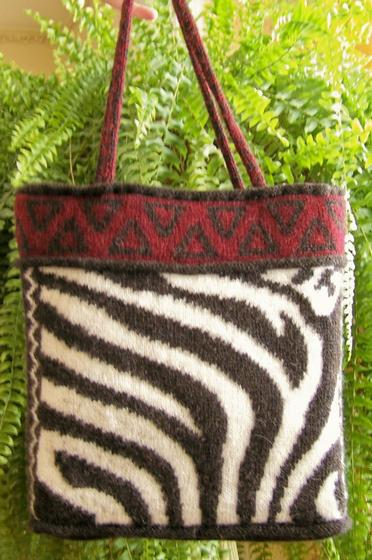 Zebra Tote Bag - Knitting Patterns and Crochet Patterns from KnitPicks.com