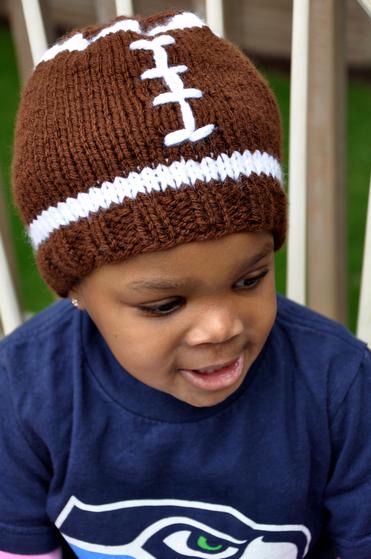 Is Crocheting Quicker Than Knitting : Faster Football Hat - Knitting Patterns and Crochet Patterns from ...