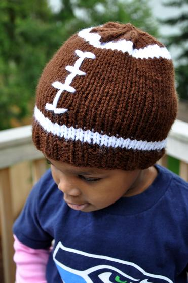 Faster Football Hat - Knitting Patterns and Crochet Patterns from KnitPicks.com
